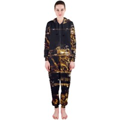 Drink Good Whiskey Hooded Jumpsuit (Ladies)