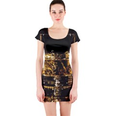 Drink Good Whiskey Short Sleeve Bodycon Dress