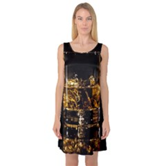 Drink Good Whiskey Sleeveless Satin Nightdress