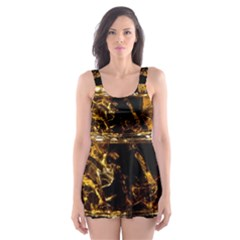 Drink Good Whiskey Skater Dress Swimsuit