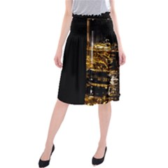 Drink Good Whiskey Midi Beach Skirt