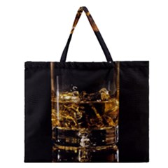 Drink Good Whiskey Zipper Large Tote Bag