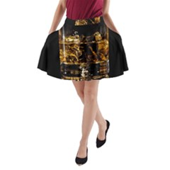Drink Good Whiskey A-Line Pocket Skirt