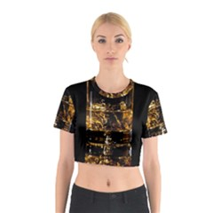 Drink Good Whiskey Cotton Crop Top
