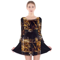 Drink Good Whiskey Long Sleeve Velvet Skater Dress