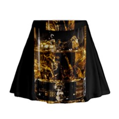 Drink Good Whiskey Mini Flare Skirt