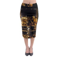 Drink Good Whiskey Midi Pencil Skirt