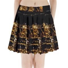 Drink Good Whiskey Pleated Mini Skirt