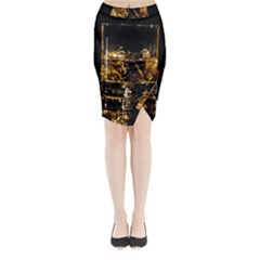 Drink Good Whiskey Midi Wrap Pencil Skirt