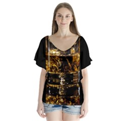 Drink Good Whiskey Flutter Sleeve Top