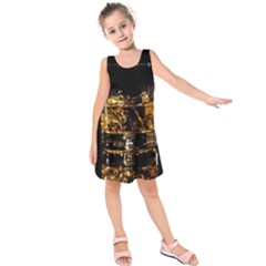 Drink Good Whiskey Kids  Sleeveless Dress