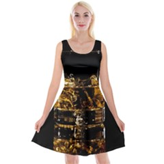 Drink Good Whiskey Reversible Velvet Sleeveless Dress