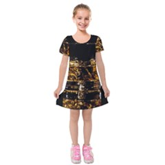 Drink Good Whiskey Kids  Short Sleeve Velvet Dress