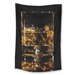 Drink Good Whiskey Large Tapestry