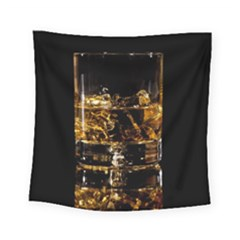 Drink Good Whiskey Square Tapestry (Small)