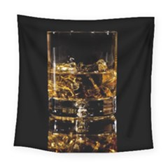 Drink Good Whiskey Square Tapestry (large)