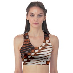 Traditional Batik Sarong Sports Bra