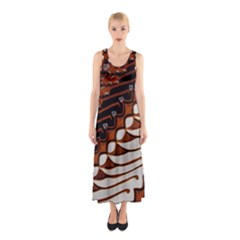 Traditional Batik Sarong Sleeveless Maxi Dress
