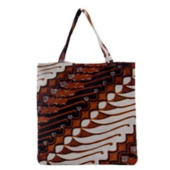 Traditional Batik Sarong Grocery Tote Bag