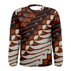 Traditional Batik Sarong Men s Long Sleeve Tee