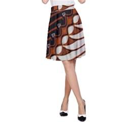 Traditional Batik Sarong A-Line Skirt