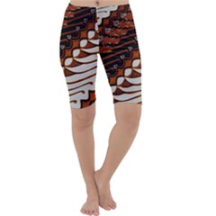 Traditional Batik Sarong Cropped Leggings