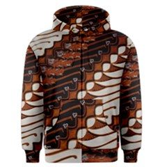 Traditional Batik Sarong Men s Zipper Hoodie