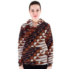 Traditional Batik Sarong Women s Zipper Hoodie
