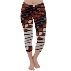 Traditional Batik Sarong Capri Winter Leggings