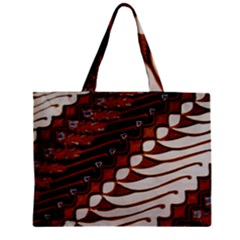 Traditional Batik Sarong Zipper Mini Tote Bag