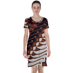 Traditional Batik Sarong Short Sleeve Nightdress
