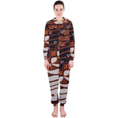 Traditional Batik Sarong Hooded Jumpsuit (Ladies)