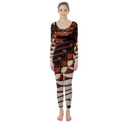 Traditional Batik Sarong Long Sleeve Catsuit