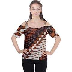 Traditional Batik Sarong Women s Cutout Shoulder Tee