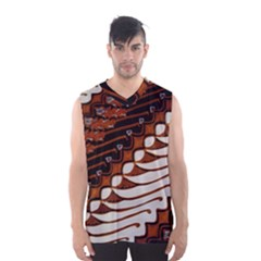 Traditional Batik Sarong Men s Basketball Tank Top