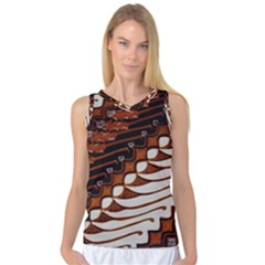 Traditional Batik Sarong Women s Basketball Tank Top