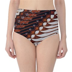 Traditional Batik Sarong High-Waist Bikini Bottoms