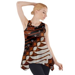 Traditional Batik Sarong Side Drop Tank Tunic