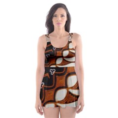 Traditional Batik Sarong Skater Dress Swimsuit