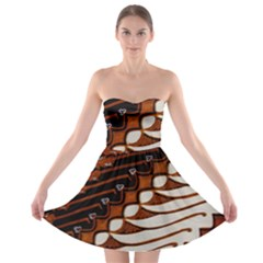 Traditional Batik Sarong Strapless Bra Top Dress