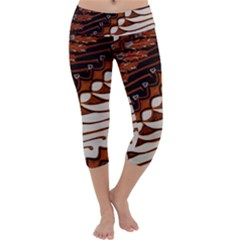 Traditional Batik Sarong Capri Yoga Leggings