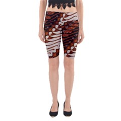 Traditional Batik Sarong Yoga Cropped Leggings