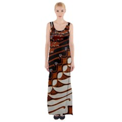 Traditional Batik Sarong Maxi Thigh Split Dress