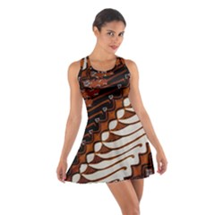 Traditional Batik Sarong Cotton Racerback Dress
