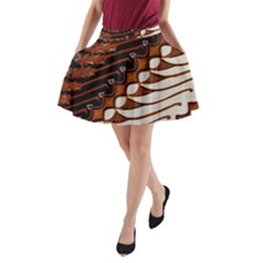 Traditional Batik Sarong A-Line Pocket Skirt