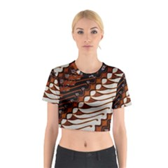 Traditional Batik Sarong Cotton Crop Top
