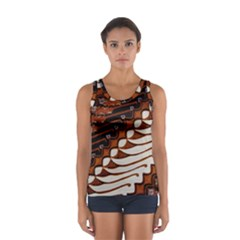 Traditional Batik Sarong Women s Sport Tank Top