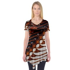Traditional Batik Sarong Short Sleeve Tunic