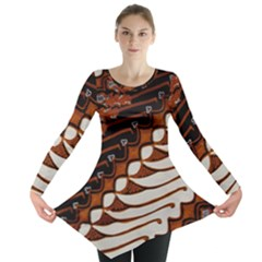 Traditional Batik Sarong Long Sleeve Tunic
