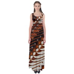 Traditional Batik Sarong Empire Waist Maxi Dress